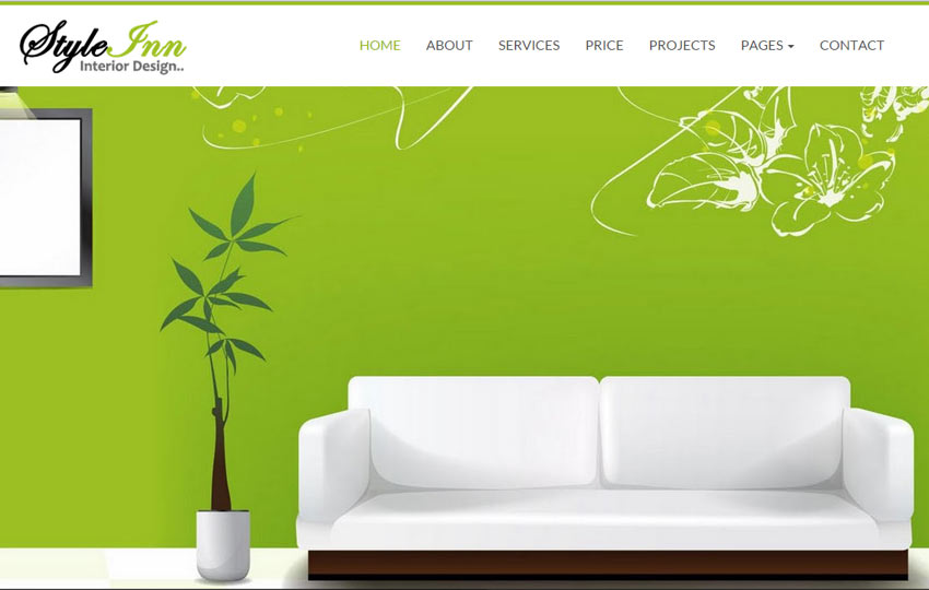 interior design website template - Interior Design Pages