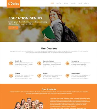 Educational HTML5 Template