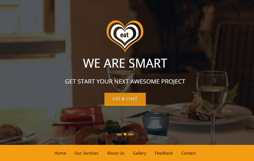 Restaurant bootstrap template free download webthemez eat restaurant bootstrap html5 template maxwellsz