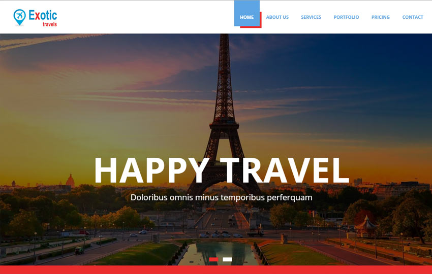 travels bootstrap template free download