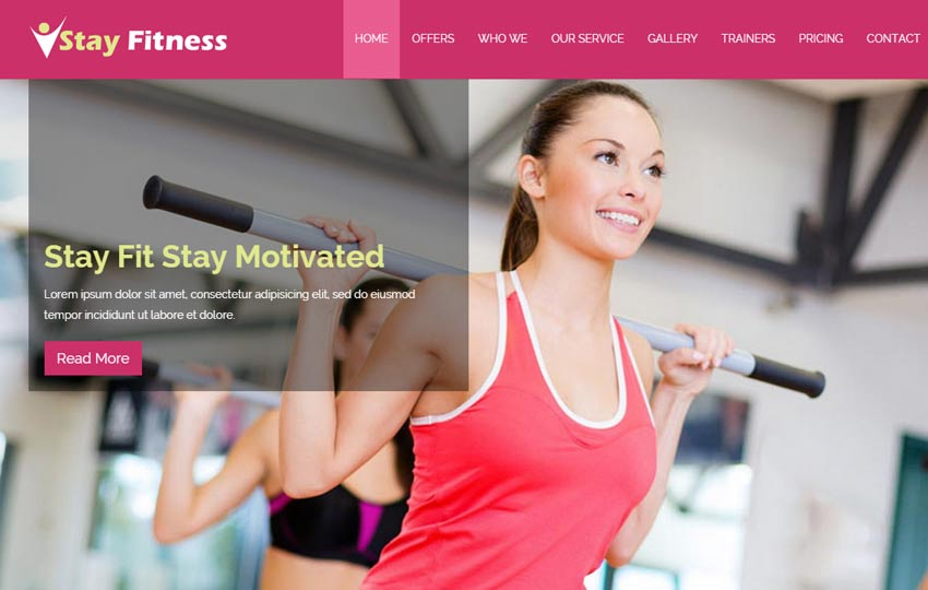 Free Fitness html template