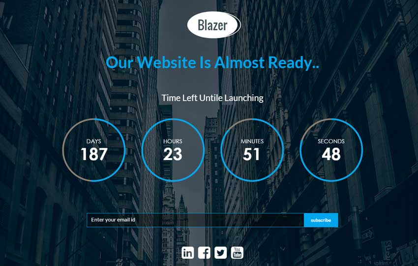 coming soon website templates landing pages free download