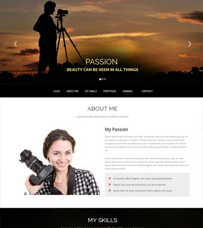 Photography Bootstrap HTML5 Template