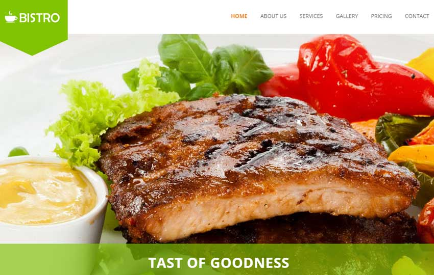Restaurant Bootstrap HTML5 Template Free Download - WebThemez
