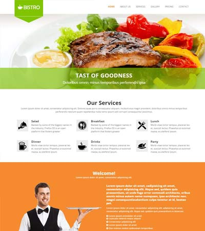 Restaurant bootstrap html5 template free download webthemez maxwellsz