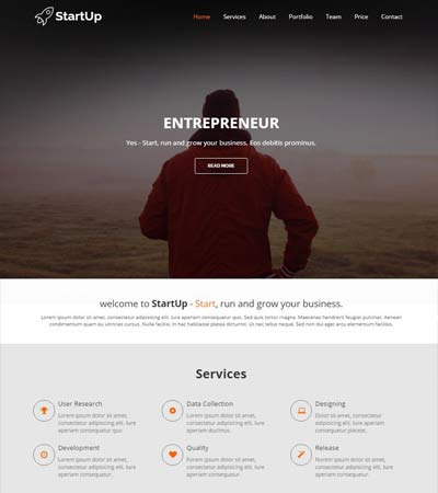 Responsive HTML5 Template