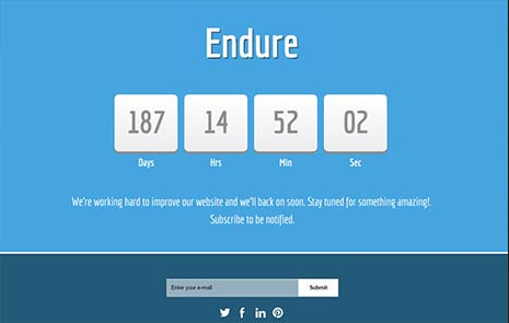 bootstrap coming soon free theme