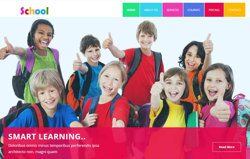 school educational html5 template webthemez