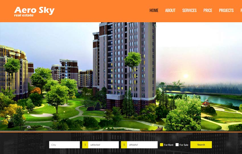Real Estate Website Template Free Download Webthemez
