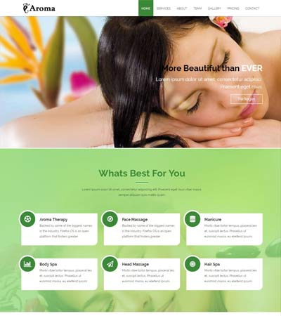 Spa Bootstrap Template