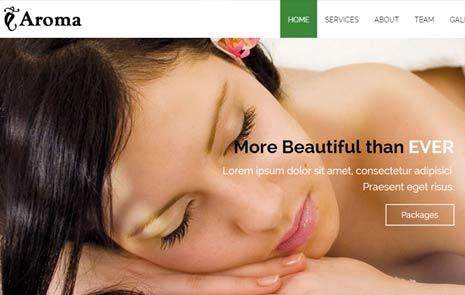 Beauty Spa free website template