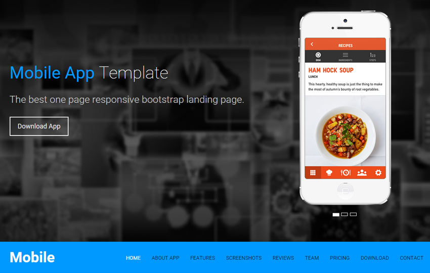 One page template html5 landing page webthemez for Interior design web app