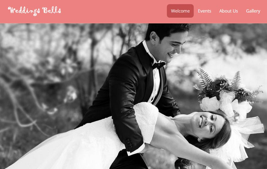 Wedding Bells Free Responsive HTML5 Template