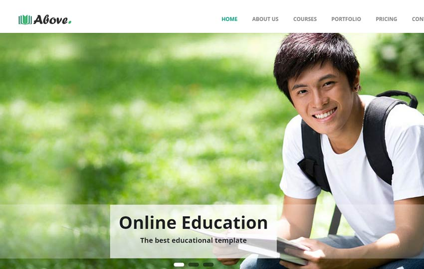 Free Education web bootstrap template