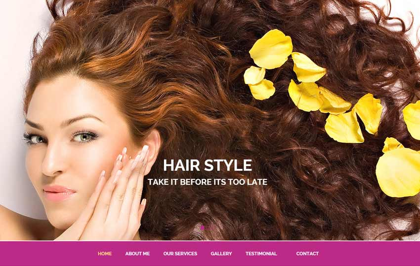 Beauty Salon Bootstrap HTML5 Template
