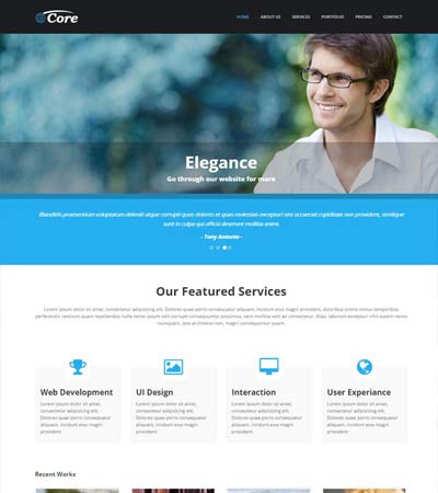 Free website templates and bootstrap themes webthemez core business responsive template wajeb Gallery