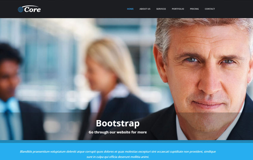 html5 corporate web template