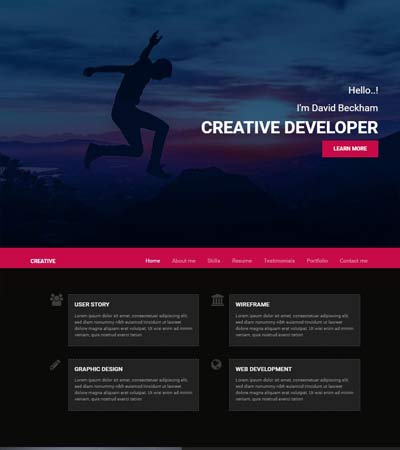 Creative-Dev-Bootstrap-portfolio-website