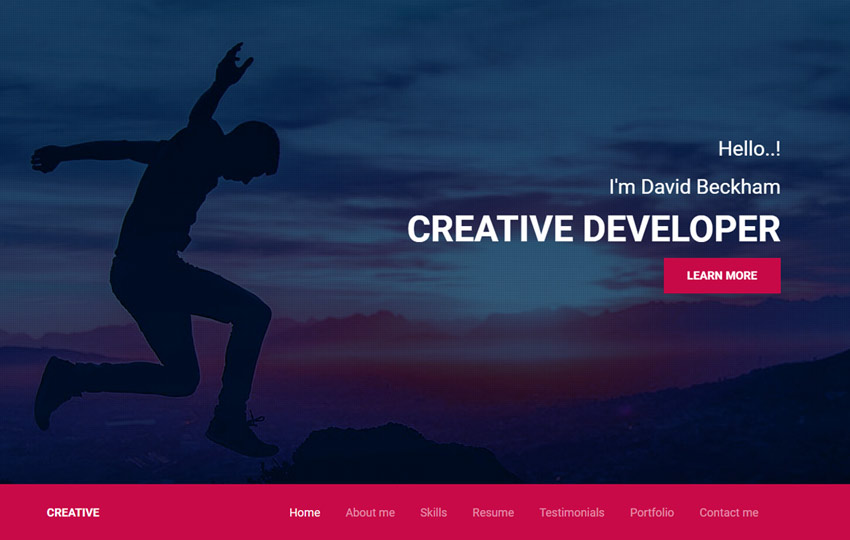 bootstrap portfolio web template by the webthemez
