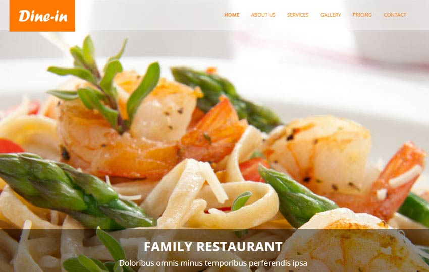 restaurant html5 template free by webthemez