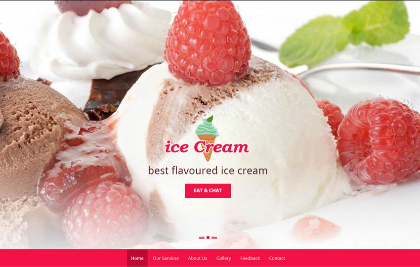 Ice Cream Parlour Bootstrap HTML5 Template