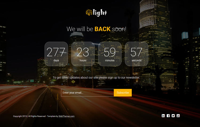 Coming Soon HTML Responsive Template