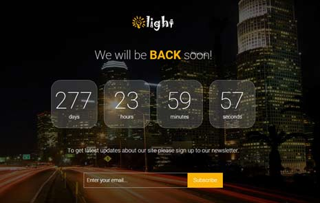 coming soon responsive bootstrap theme