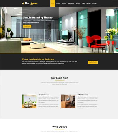 Live Space Interior Design Bootstrap HTML5 Template