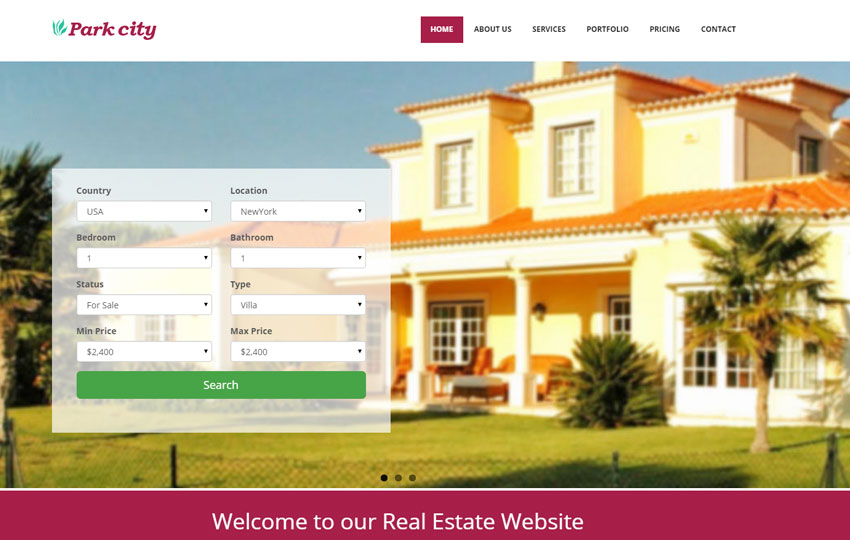HTML Real Estate Responsive Template