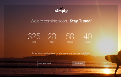 bootstrap coming soon web template responsive