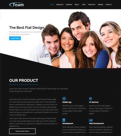 Flat Bootstrap HTML5 Template