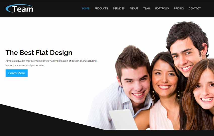 101 latest free responsive html templates 2018 business flat bootstrap html5 template accmission Choice Image
