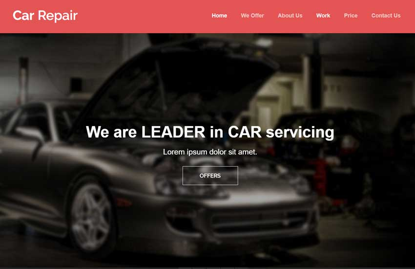 Car repair html5 bootstrap template