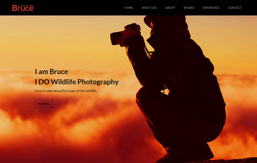 Photography Free Bootstrap Template