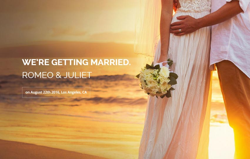 Wedding Bootstrap Free Website Template