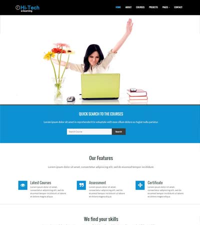 e-learning website template