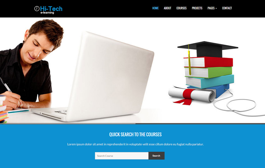 E Learning Bootstrap Website Template Webthemez
