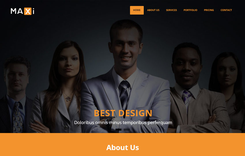 Business HTML5 Bootstrap Website Template
