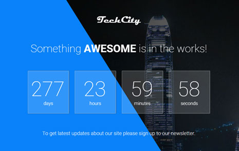 free coming soon web template