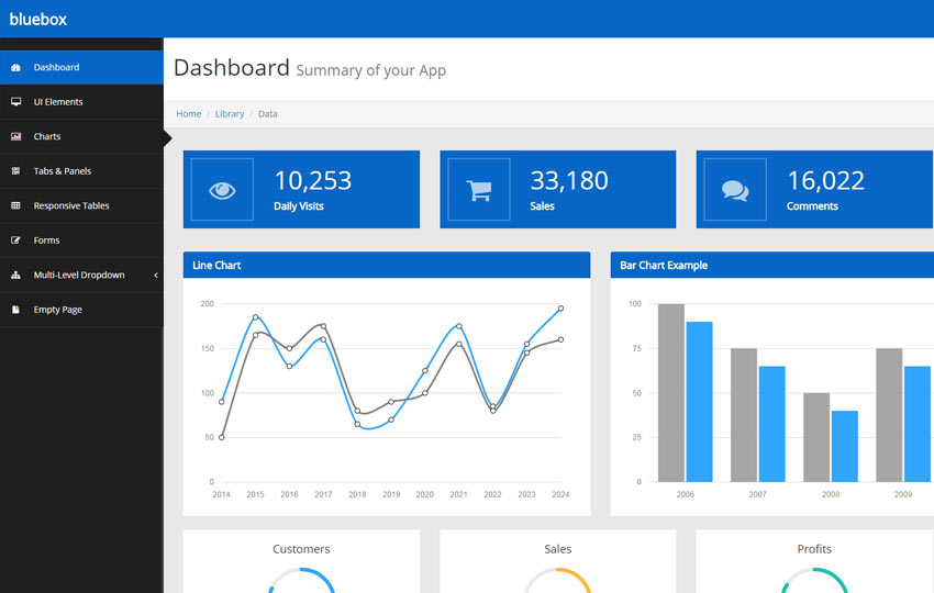 Top 10 free admin dashboard backend bootstrap html5 for Jquery admin panel template free download