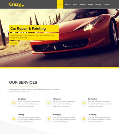 latest automobile web templates free download