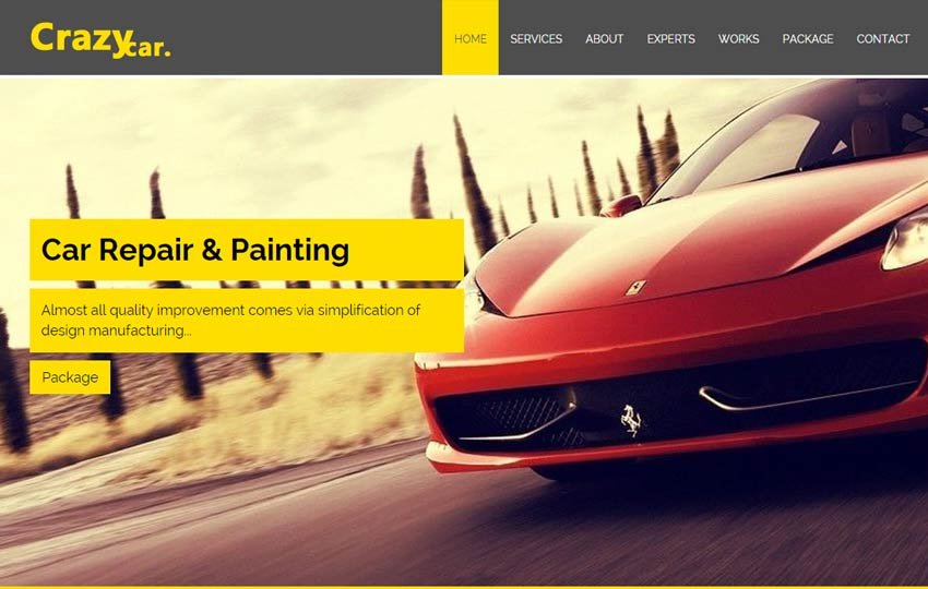 free car repair web template