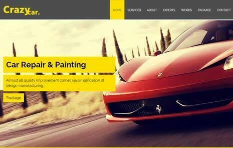 car repair free web template