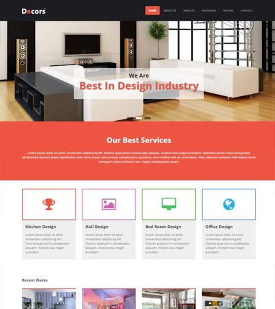 Interior design archives webthemez for Interior design responsive website templates edge free download