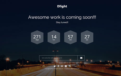 Dlight-Free-Coming-Soon-Bootstrap-Template