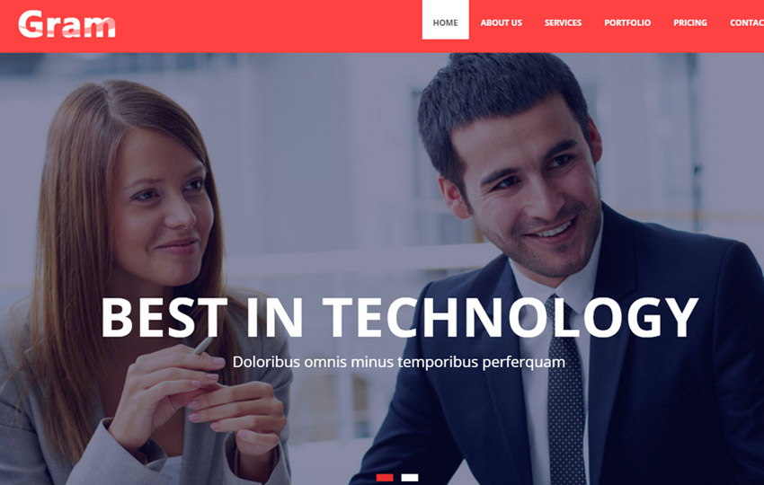 free bootstrap business template