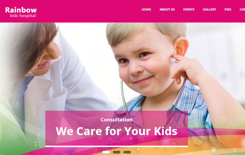Children Hospital Bootstrap website template