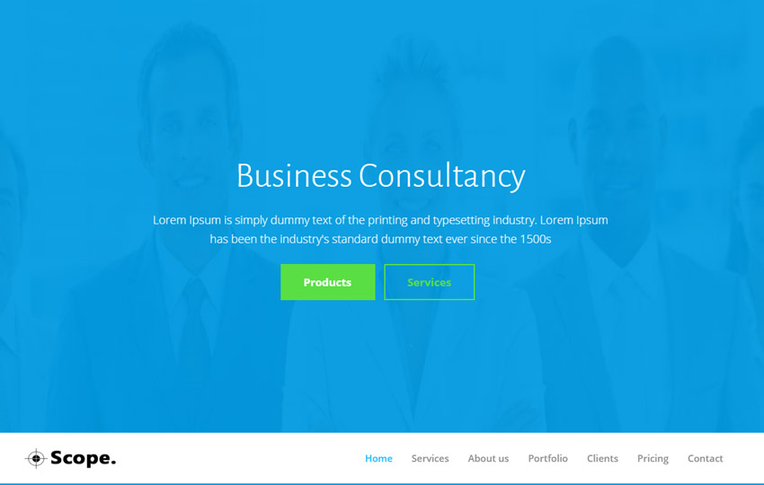 Consultancy Bootstrap Web Template