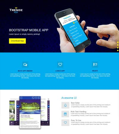 Mobile-Bootstrap-App-Landing page