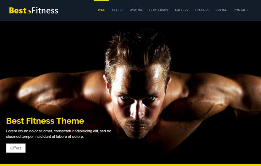 Best Fitness Bootstrap Website Template
